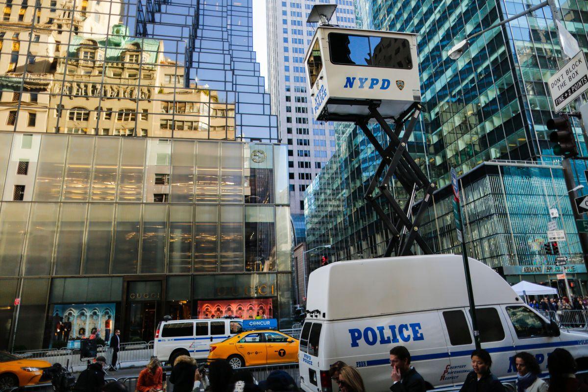 La NYPD implementó un plan de vigilancia especial para el presidente electo.
