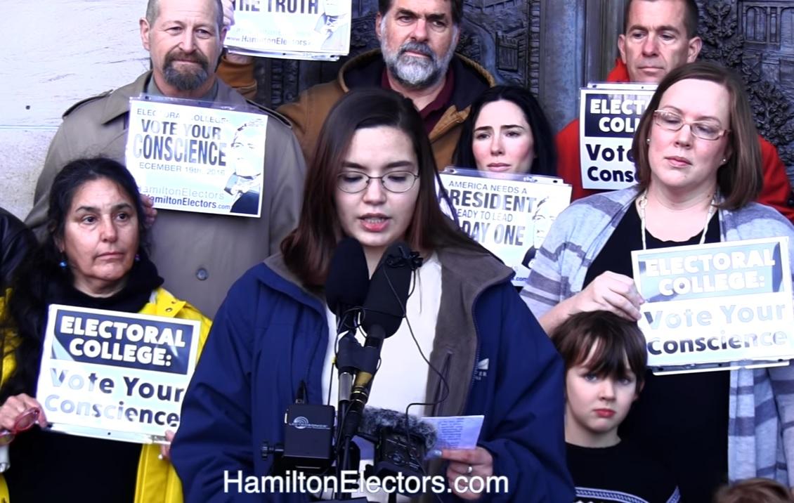 Levi Guerra, de Washington, es la integrante del Colegio Electoral más joven, con 19 años de edad.