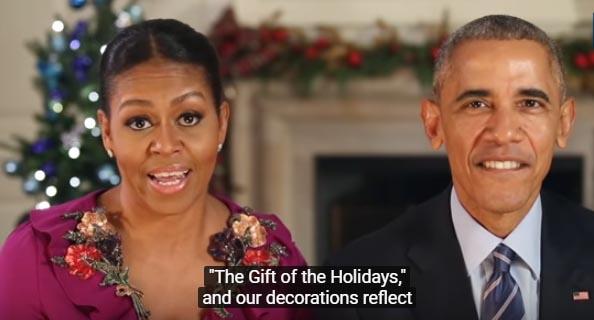 Los Obama grabaron el mensaje en la Casa Blanca antes de partir la semana pasada a la isla natal del presidente, Oahu (Hawai).