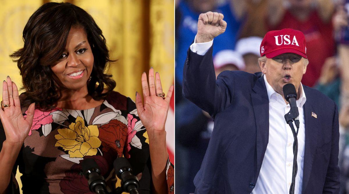 Michelle Obama y Donald Trump hablaron sobre la esperanza en los Estados Unidos.