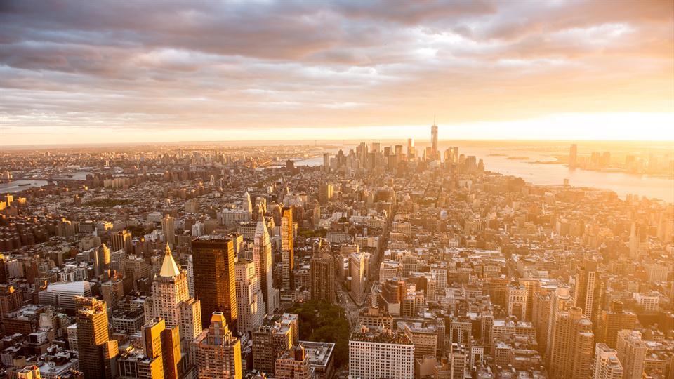 Un ocaso en Nueva York.
