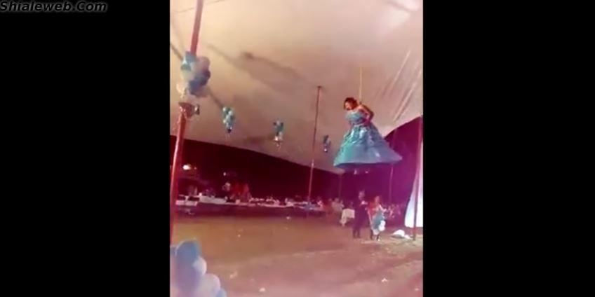 """Video: Quinceañera intenta """"volar"""", pero algo salió muy mal"""