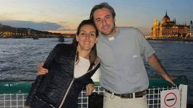 Marcio Peironi junto a la joven Melina Nicoli con quien espera un hijo.
