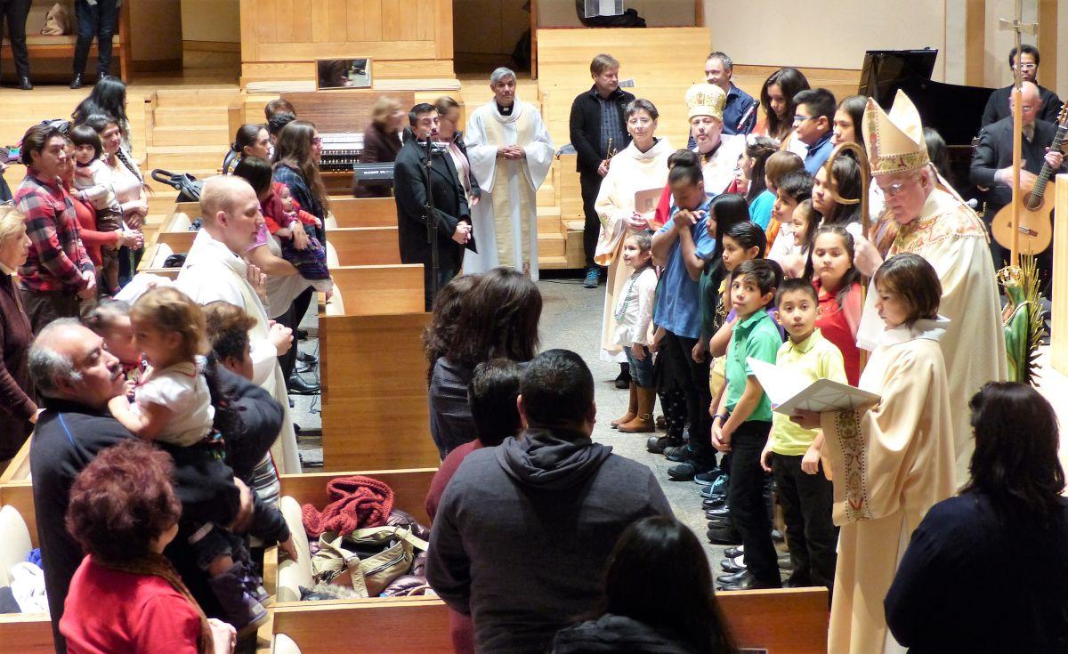 Saint Peter's Church, en Manhattan, ha servido de santuario para inmigrantes en riesgo de deportación.