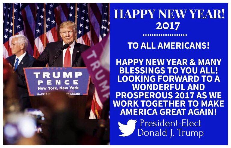 Así celebró la familia Trump el Año Nuevo