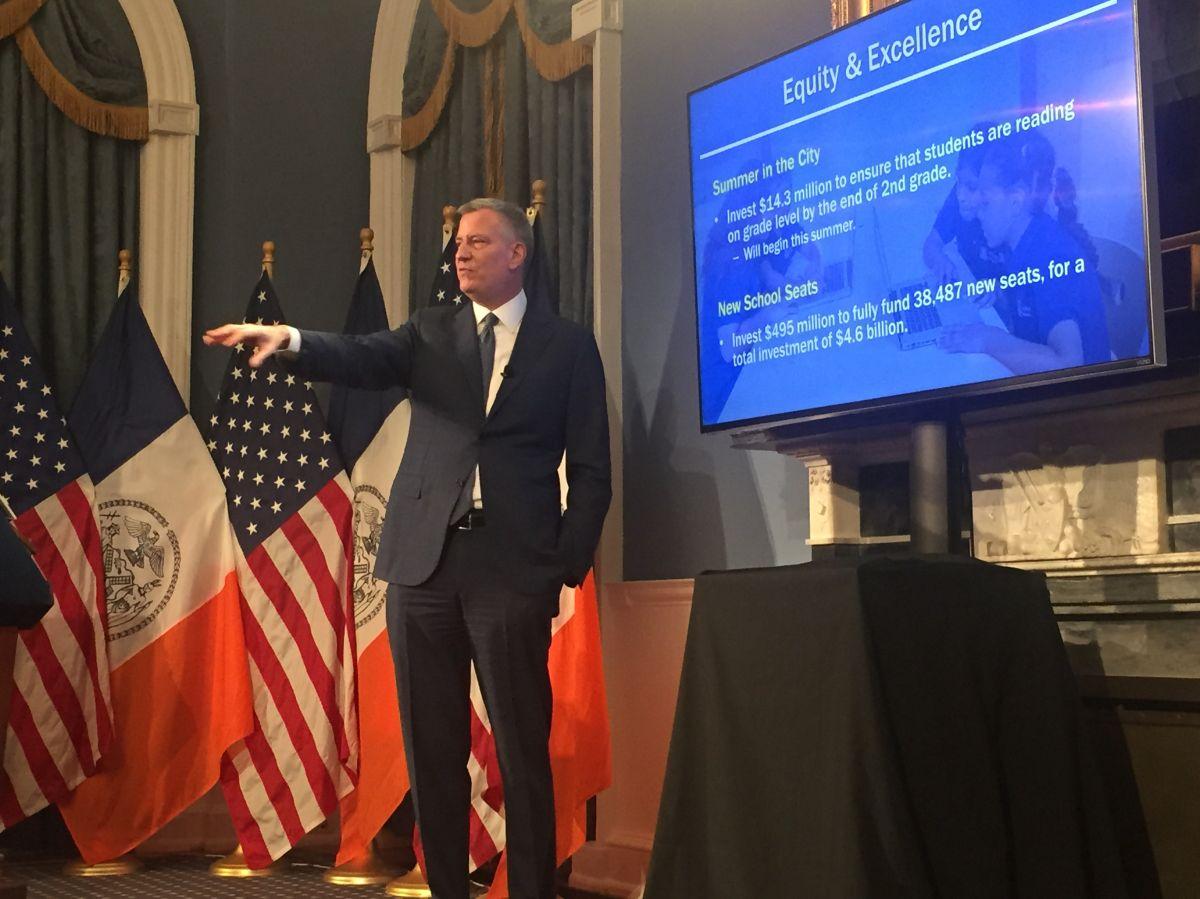 Alcalde presenta presupuesto para preparar a NYC en la era Trump