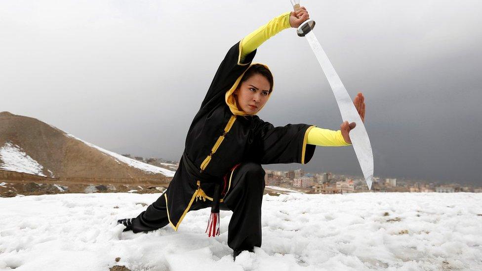 Fotos: Así es el entrenamiento de las guerreras shaolin en Afganistán