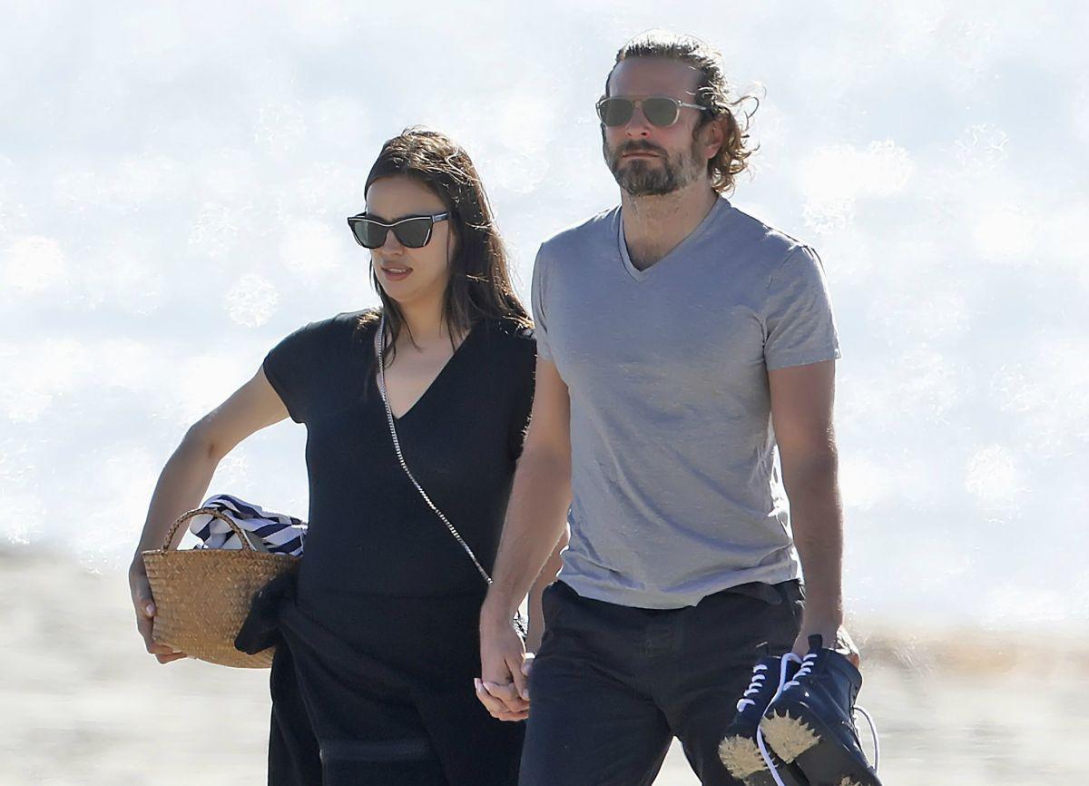 Primeras imágenes de Irina Shayk junto a Bradley Cooper luciendo pancita
