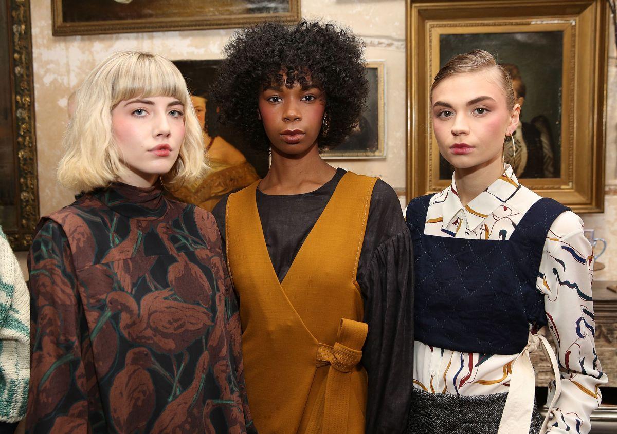 Modelos en la presentación de Whit durante New York Fashion Week 2017.