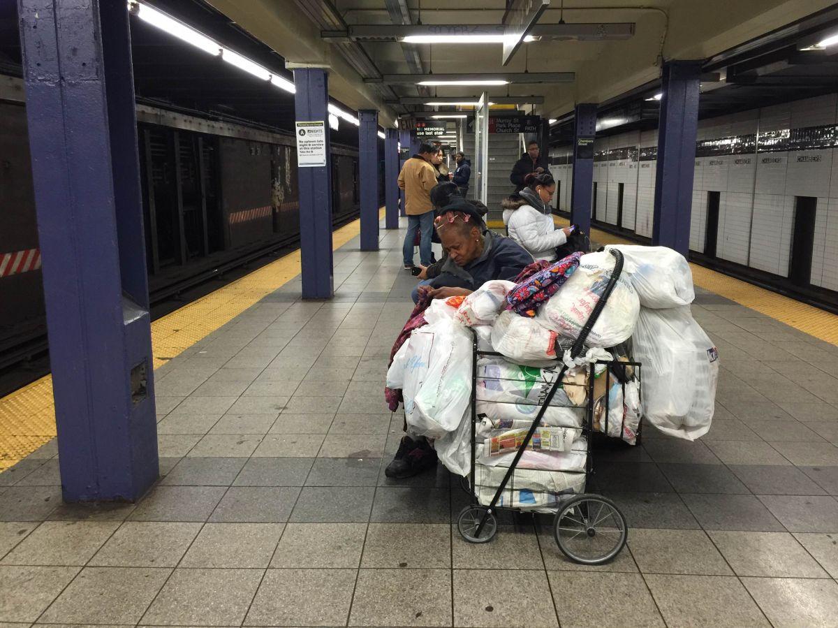 Desamparados abarrotaron el Subway durante la tormenta Stella