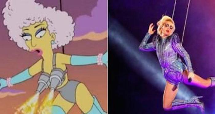 Video: Los Simpsons también predijeron el espectáculo de Lady Gaga en el Super Bowl