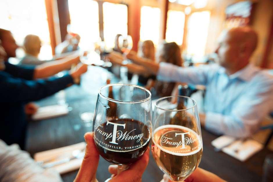 Salón de cata en Trump Winery