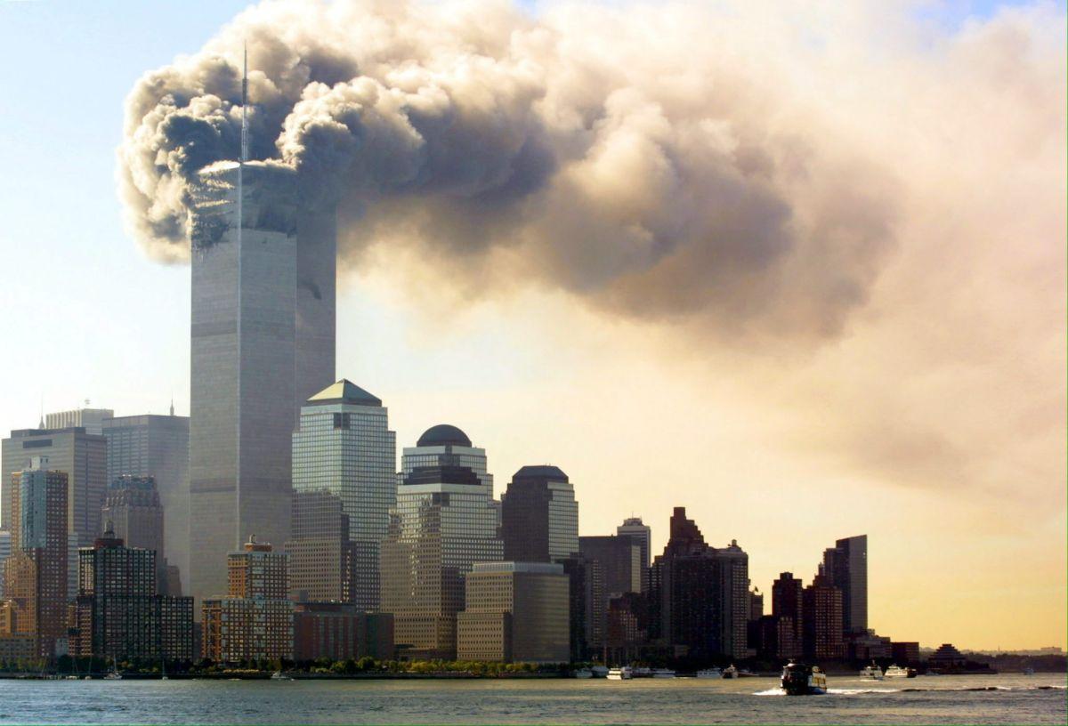 Imágenes dantescas cuando la tragedia apenas comenzaba el 9/11.