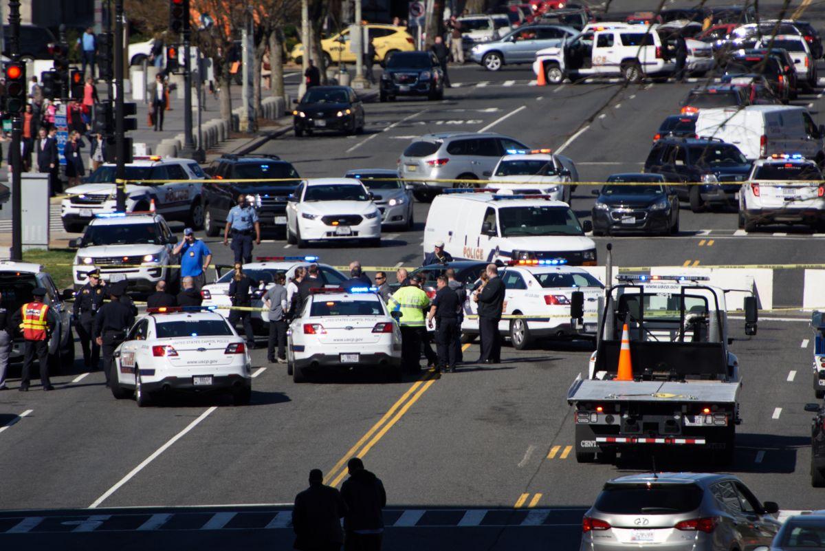 Policía descarta terrorismo en incidente cerca del Capitolio