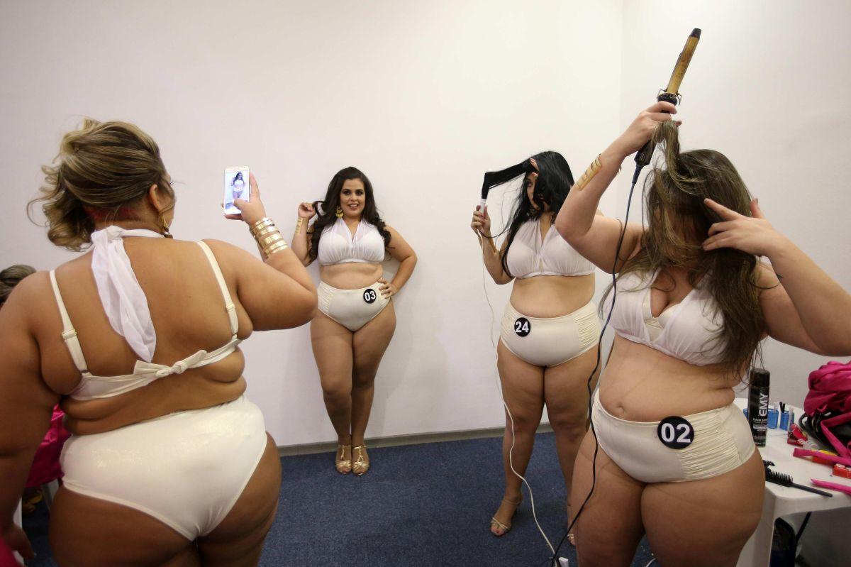 Diosas sexy tallas extra compiten contra los prejuicios