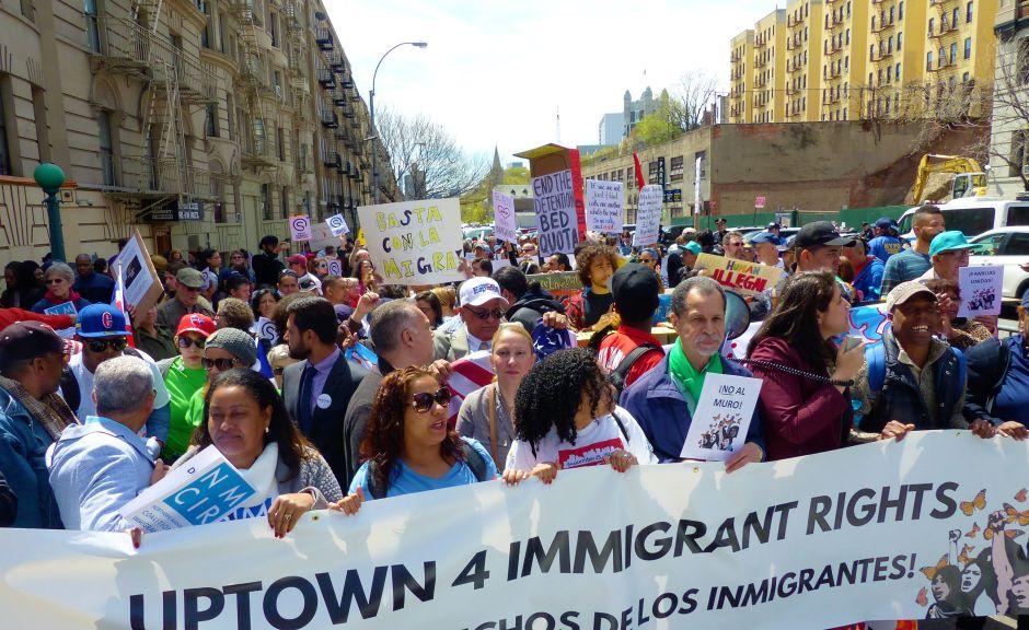 """El Alto Manhattan le dice """"No"""" a las políticas antiinmigrantes"""