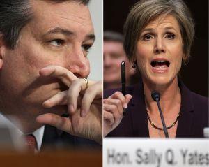 """Sally Yates le dio """"cachetada con guante blanco"""" a Ted Cruz"""