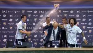 Video: Interrumpen la rueda de prensa de Zidane y pasa esto