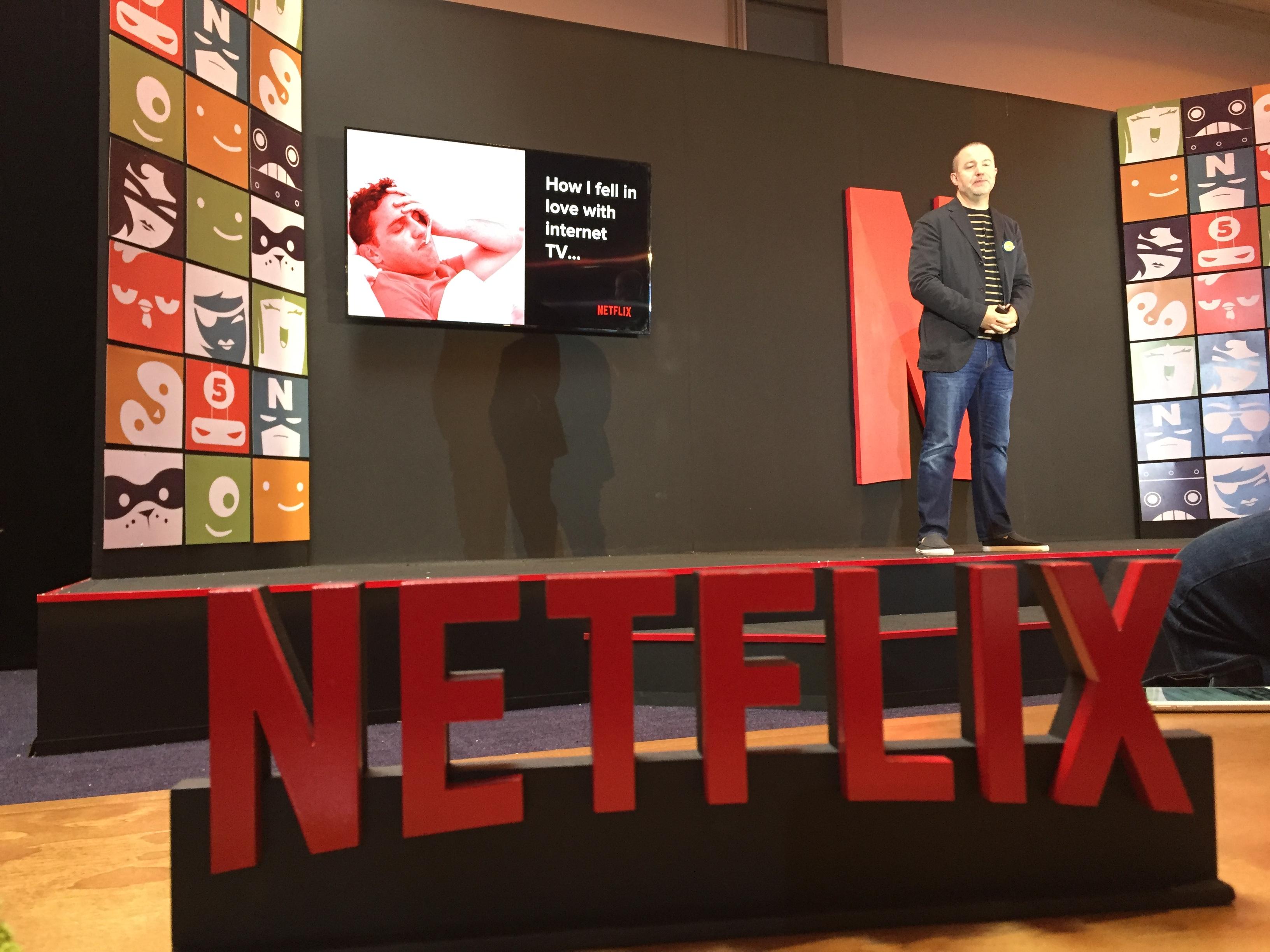 Chris Jaffe durante una presentación de Netflix en Ciudad de México.