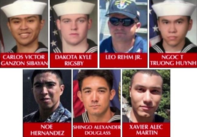 Eran inmigrantes algunos de los marinos muertos en choque de buque de EEUU