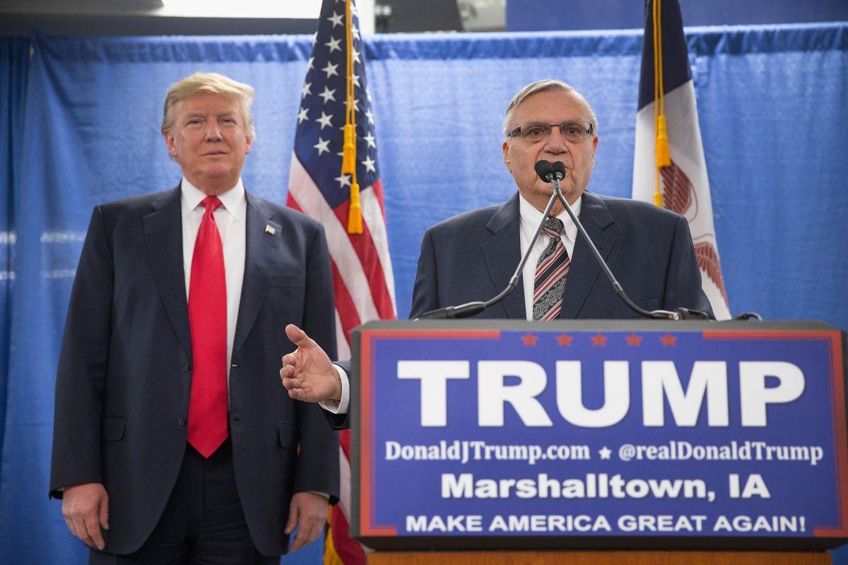 Arpaio apoyó públicamente la campaña del presidente Trump.