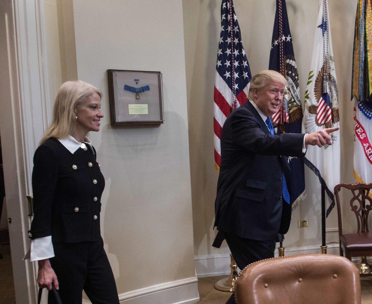 Kellyanne Conway ha colaborado con el presidente Trump desde su campaña.