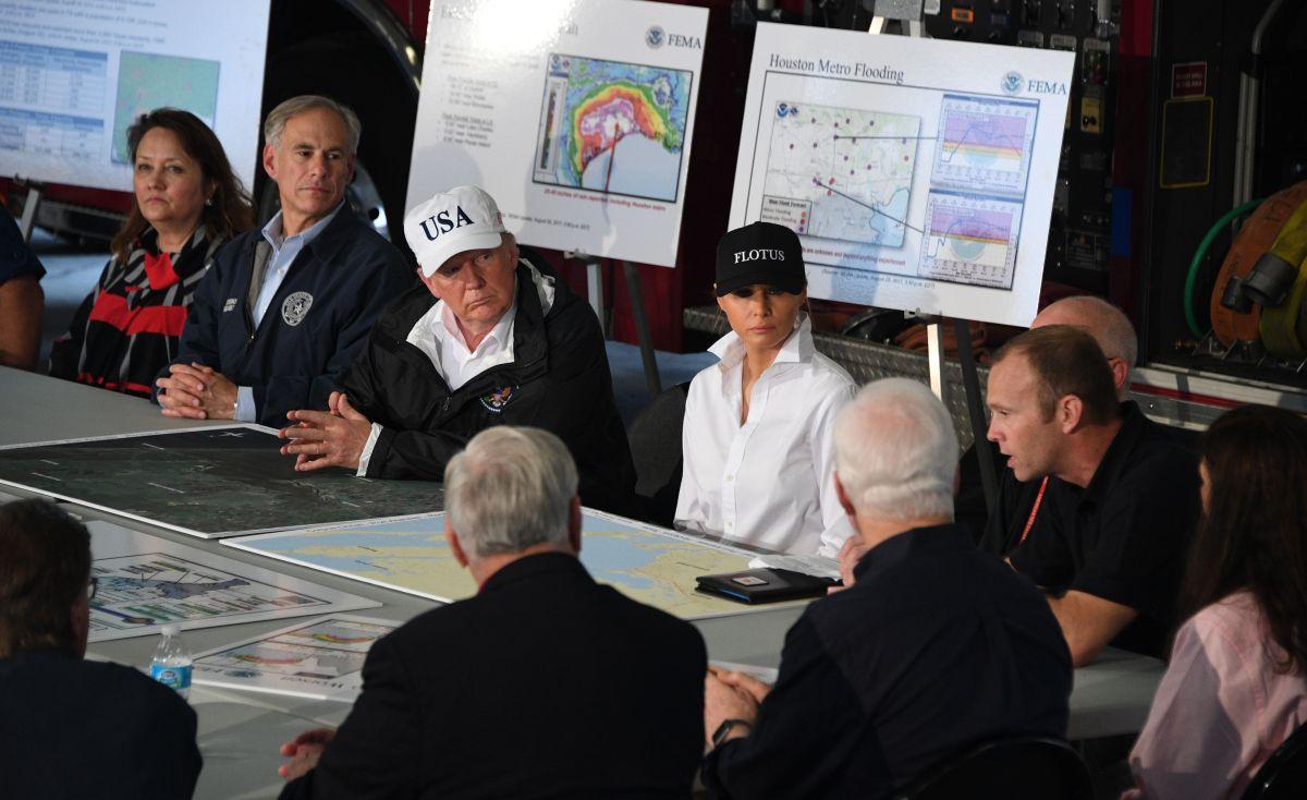 El presidente Trump y la Primera Dama visitaron Texas el martes.