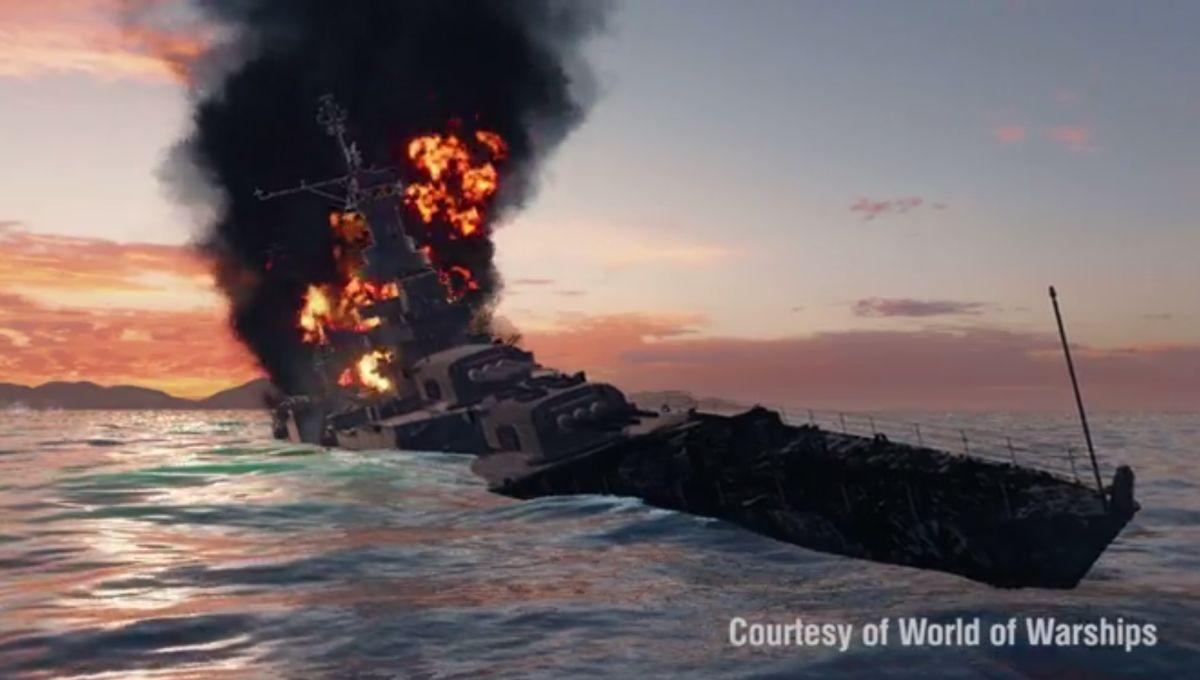Una animación muestra la forma en que el barco fue hundido.