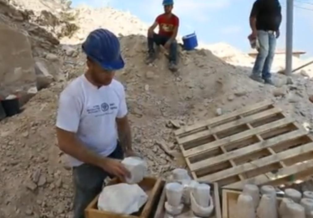 Los vasos fueron hallados en Jerusalén.