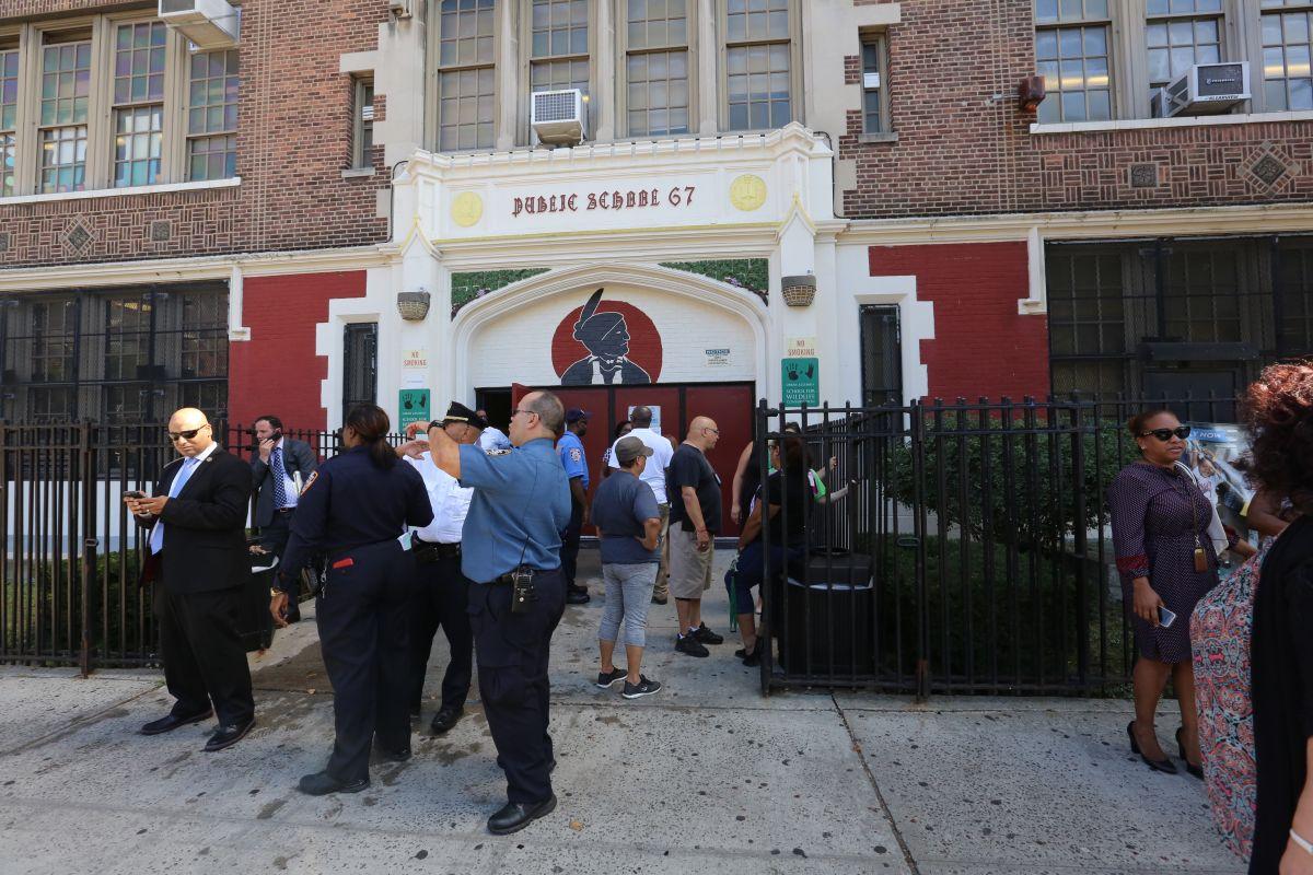 La puertas del Urban Assembly School for Wildlife Conservation. volvieron a abrirse el jueves por la mañana.