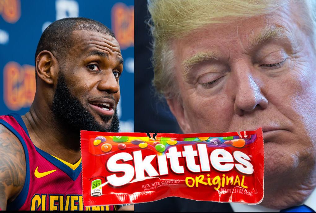 LeBron James compara a Trump con una bolsa de Skittles