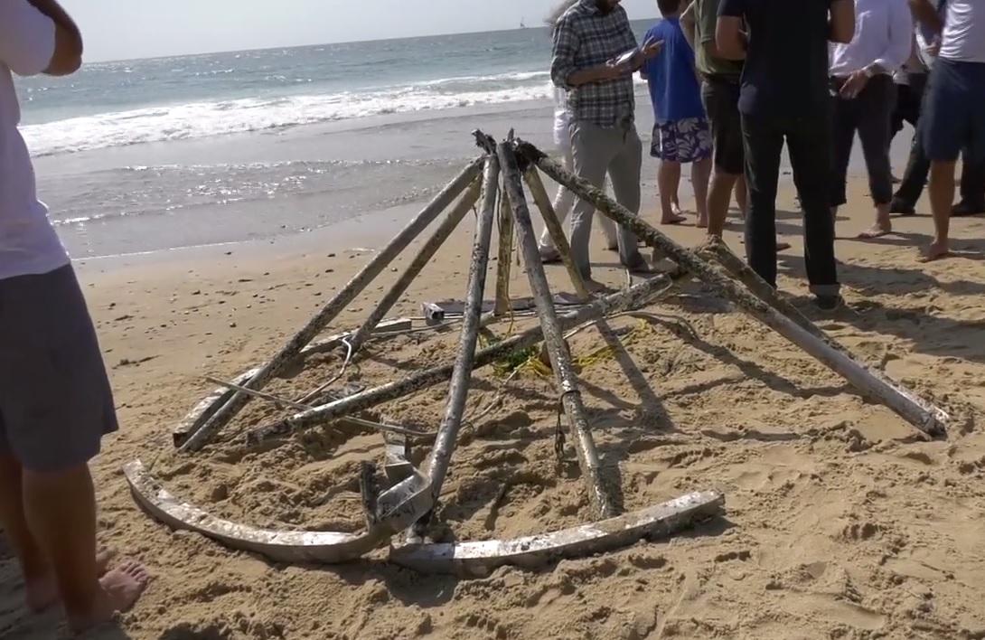 El misterioso objeto retirado de una playa en EEUU