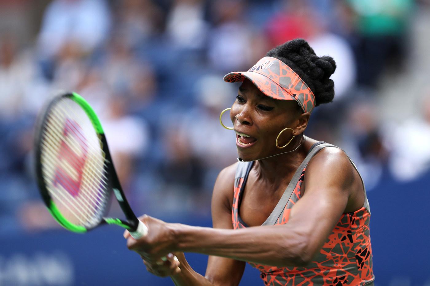 Venus Williams durante el partido ante Carla Suárez Navarro.