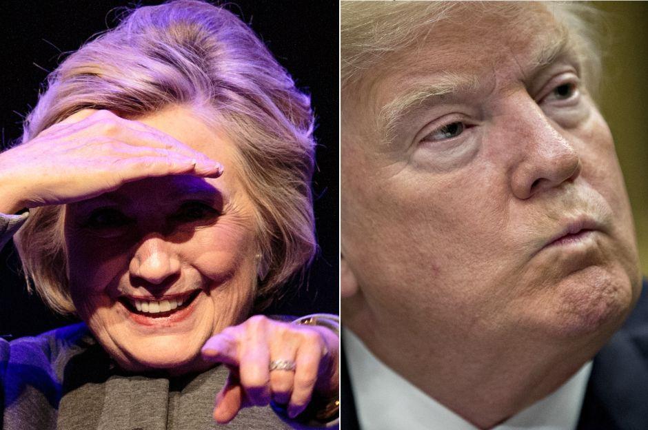 Hillary Clinton la manda fuerte derechazo a Trump
