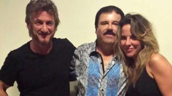 """Sean Penn, """"El Chapo"""" y Kate del Castillo."""