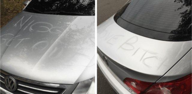VIDEO: Vandalizan auto de familia en Staten Island con insultos racistas