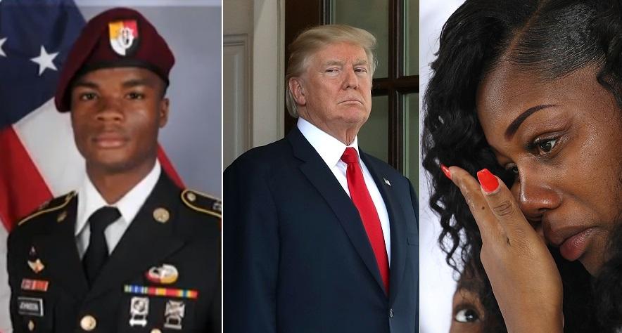 """Viuda de soldado caído por fin habla: """"Trump me hizo llorar"""""""