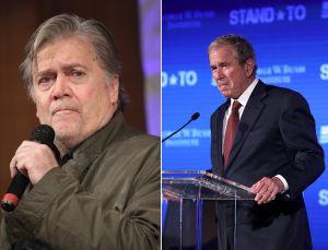 """A Bannon le """"duele"""" el discurso contra supremacistas de Bush y se lanza en su contra"""