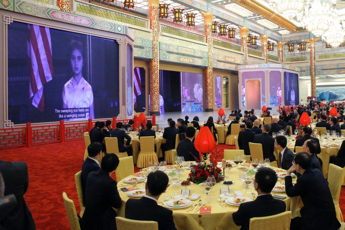 """La nieta de 6 años de Trump """"enloquece"""" a los chinos"""