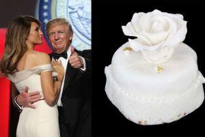Subasta: venden trozo de pastel de la boda de Trump con Melania por $2,240 dólares