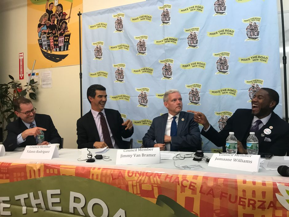 Candidatos a la Presidencia del Concejo Municipal prometen aumentar lucha contra Trump