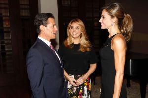 """Enrique Peña Nieto y Angélica Rivera """"tiraron la casa por la ventana"""" para recibir a la Reina Letizia"""