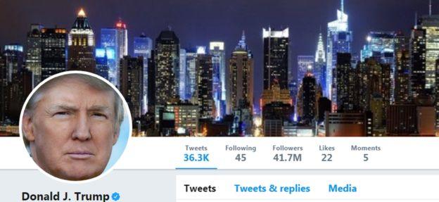La súbita desaparición de la cuenta de Twitter de Trump por 11 minutos