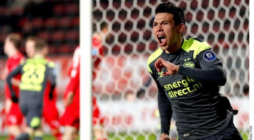 """VIDEO: Un gol más del """"Chucky"""" Lozano con el PSV para su colección"""