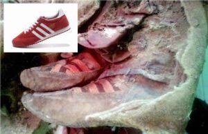 Hallan momia de más de 1,500 años ¿con unos tenis Adidas?