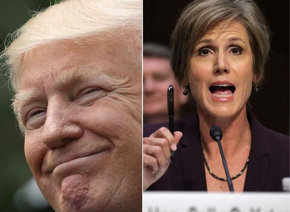 Exfiscal Sally Yates, a quien Trump despidió, envió duro mensaje al mandatario