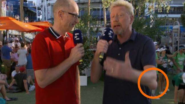 El misterioso bulto en el codo de Boris Becker que se hizo viral