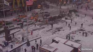 EN VIVO: Así cae la nieve en Times Square en estos momentos