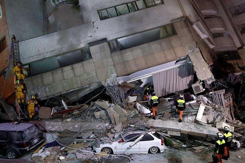 Terremoto de 6.4 sacude Taiwán