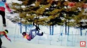 VIDEO: Austriaco sufre dramática fractura de cuello en los Juegos Olímpicos de Invierno